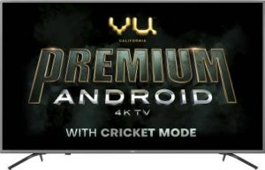 Vu Premium Android 126cm (50 inch) Ultra HD (4K) LED Smart Android TV with Cricket Mode  (50-OA)