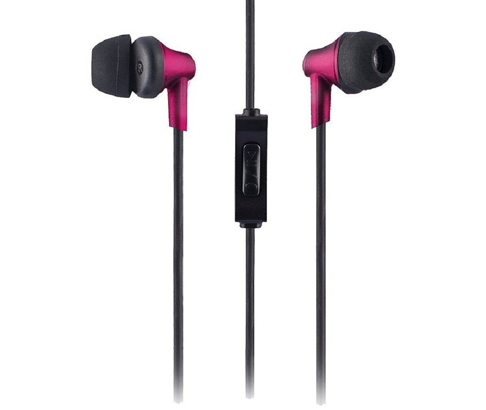 Sound One 616-P Red in-Ear Earphone with Mic