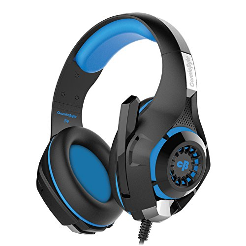 Cosmic Byte GS410 Headphones with Mic and for PS4, Xbox One, Laptop, PC, iPhone and Android Phones (Black/Blue)