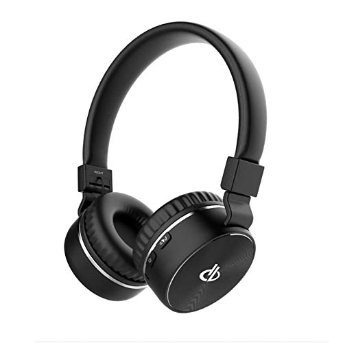 Digibuff MD750 Premium Bluetooth Wireless Headphones Extra bass Lightweight Design, Immersive Audio, Easy Access Control Over The Ear Headset with Mic (Black)